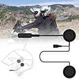 VR-robot Wireless Motorcycle Helmet Headset Work with Bluetooth, Motorcycle Intercom Headset, Wireless Helmet Heaphones, Wireless Helmet Communication Systems For Motor Motorbike, Motor Helmet Headset