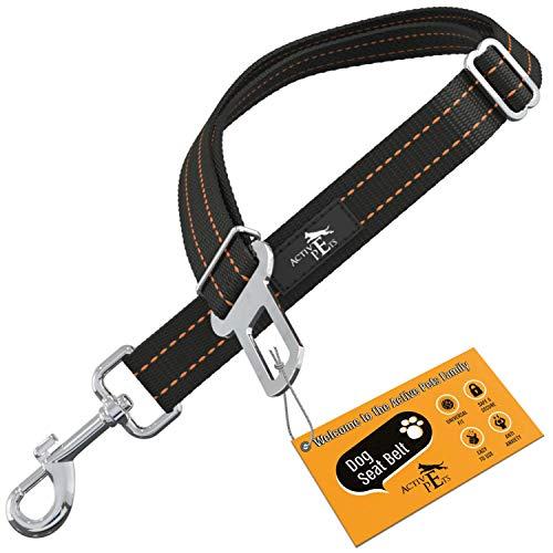 Active Pets Universal Dog Seatbelt, Dog Seatbelt Tether, Adjustable Dog Car Seat Belt, Pet Seat Belts for car. Dog Seat Belts for Small Dogs, Dog Seat Belts for Large Dogs, Dog Seat Belt for Dogs