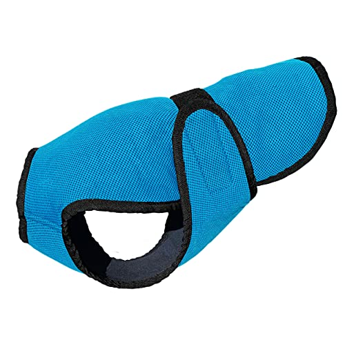DOGZSTUFF Dog Cooling Vest. Triple-Layer Lightweight Jacket, Microfiber Cooling Technology, UV Protection Shirt for Summer, Sizing for Small, Medium and Large Dogs (M, Light Blue)
