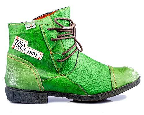 TMA 1877 Damen Stiefeletten Leder grün - EUR 40