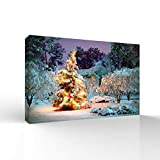 wall26 Canvas Wall Art Merry Christmas Pictures Home Wall Decorations for Bedroom Living Room Paintings Canvas Prints Framed - 16x24 inches