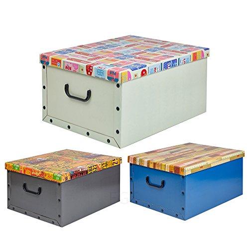 URBNLIVING Set med 3 under säng förvaringsboxar trälock