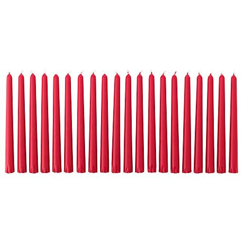 Ikea Unscented candle, red