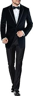 DTI BB Signature Men's Two Button Side-Vent Jacket Black Velvet Tuxedo Suit