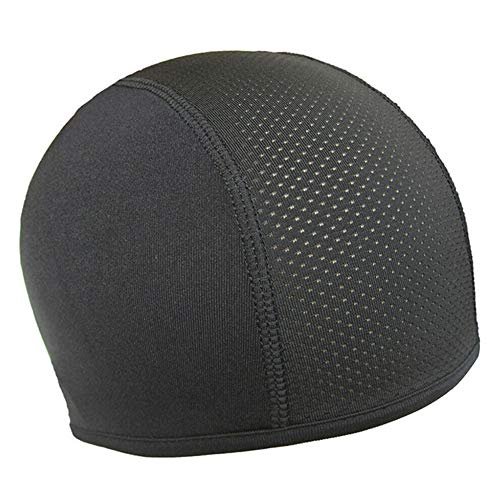 feeilty Mutze Zum Tragen Unter Dem Helm, Anti-Schweiß Quick Dry Helm Radfahren Atmungsaktive Outdoor-Sonnenschutzkappe