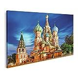 Bild Bilder auf Leinwand Moskau Russland Roter Platz Blick