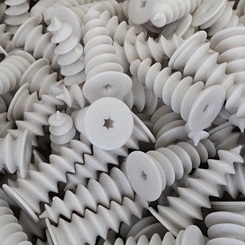 25 Stück imex Dämmstoffdübel 50 x 20 mm Hartschaumdübel Styropordübel Spiraldübel Dübel Isolierdübel