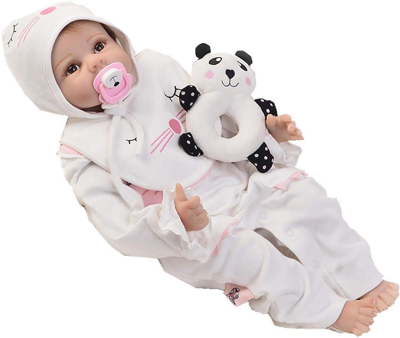 DMZH 55cm Simulation Neugeborenes Reborn Babypuppen Stoff Karosserie Süss Baby Weichkrperpuppe Kinder Spielzeug Geburtstag Weihnachten Geschenke