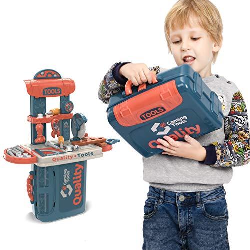 Spielzeugset für Kinder 34 Stück, Rollenspiel Kettensäge Spielzeug Set für Kinder, Spielset Geschenke