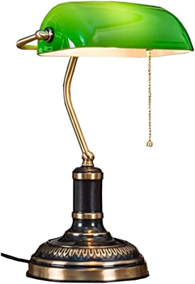 Lámpara de Escritorio Antigua de Iron Bank/Lámpara de Mesa ...