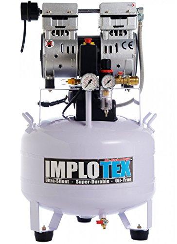 Implotex, stille fluistercompressor, persluchtcompressor, slechts 55 dB, stil, olievrij, fluisterend, compressor