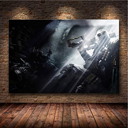 lubenwei Metro Exodus Game Poster Artwork Canvas Painting Wall Art Nordic Modern Home Decoration Poster For Living Room Print Pictures G-1658 50x70cm No Frame