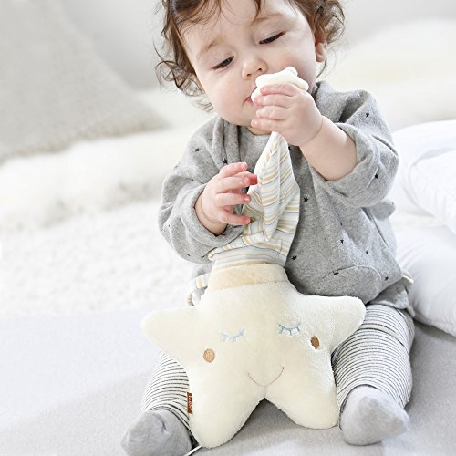 Fehn 154566 Spieluhr Stern – Aufzieh-Spieluhr mit herausnehmbarem Spielwerk zum Aufhängen an Bett, Kinderwagen oder Babyschale, für Babys und Kleinkinder ab 0+ Monaten - 3
