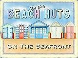 Migsrater Placa de metal con diseño de casetas de playa para la venta