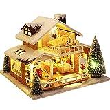 Cyhamse Casa de muñecas en miniatura con muebles, caseta de nieve helada, kit de casa de muñecas a escala 1:24, espacio creativo, regalos para Navidad y cumpleaños