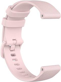 Husgrtyer YHM 20 mm Bracelet en Silicone for Huami Amazfit GTS/Samsung Galaxy Montre Active 2 / Vitesse Sport (Bleu Marine...