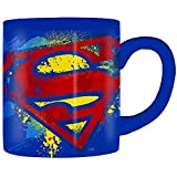 Silver Buffalo DC Comics Superman Bold Logotipo, taza de 14 onzas, multicolor