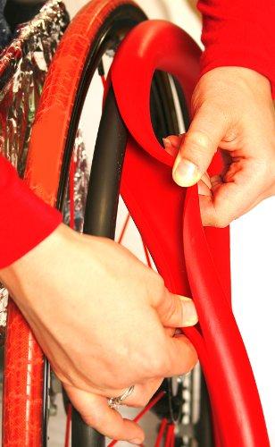 RehaDesign Ultra-Grrrip Greifreifenüberzug (24 Zoll Räder, Rot)