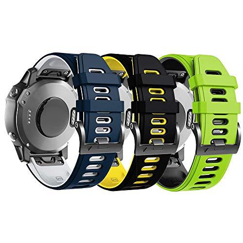 ANBEST Kompatibel mit Fenix 6X Armband Silikon Sportuhrarmband für Fenix 5X / 5X Plus/Fenix 6X Pro/Fenix 3 / Fenix 3 HR/Abstieg MK1 / D2 Delta PX / D2 Charlie Smartwatch
