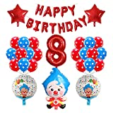 JSJJATF Globos 39 unids/Set Plim Payown Foil Balloons Rojo Azul Número Air Globos Niños Felices Cumpleaños Decoraciones (Color : 08)