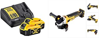 Dewalt B DCB184 5.0ah 18v XR Lithium Ion Battery Twin Pack + DCB115 Charger, Yellow & DCG405N 18V XR Brushless 125mm Angle...