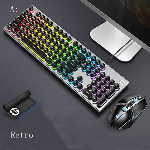 Huoqiin Mechanisch gevoel, echt bedrade toetsenbord, desktop-notebook, externe kantoor, esports USB-aansluiting, gaming muet huis toetsenbord met verlicht