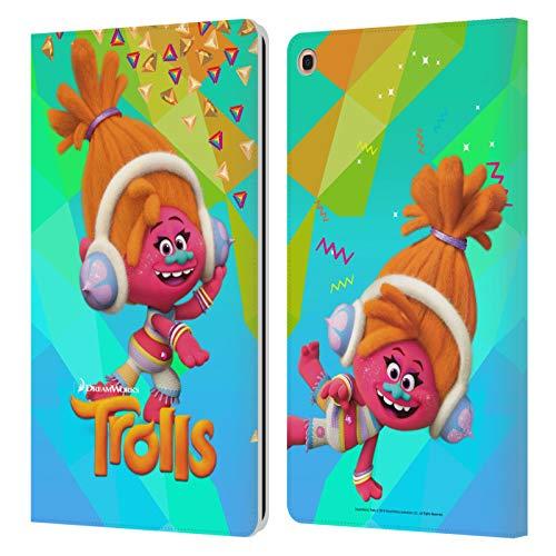 Head Case Designs Licenciado Oficialmente Trolls DJ Suki Pack Snack Carcasa de Cuero Tipo Libro Compatible con Samsung Galaxy Tab A 10.1 2019