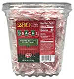Bob's Red & White Mini Peppermint Candy Canes, 280 Count Tub Individually Wrapped Bulk Holiday Candy