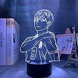 Luz nocturna 3D de anime de Haikyuu Tobio Kageyama para decoración de habitaciones, regalo de cumpleaños, manga 3D para niños