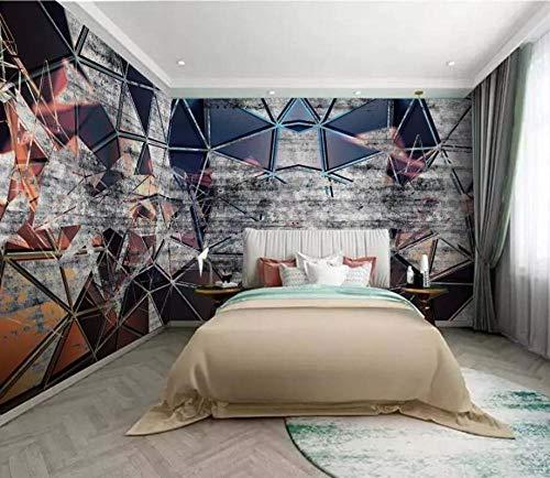 Glfeng Papel Pintado Personalizado Retro Industrial Viento geometría Mosaico Toda la casa Fondo decoración del hogar TV Mural Papel Tapiz 3d-400cmx280cm