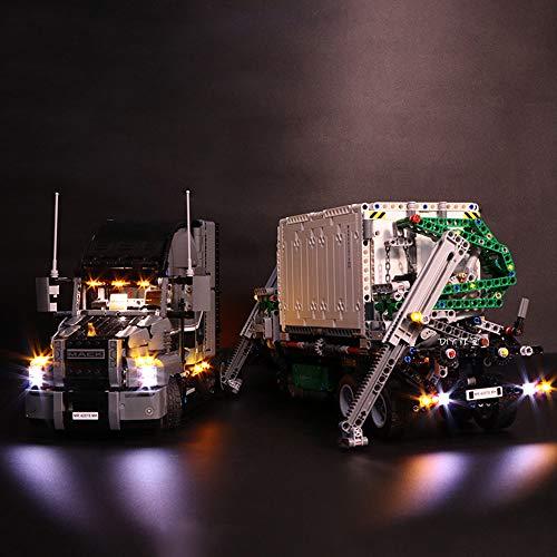Grupo De Maquinaria Mark Camión De Carga Kit De Iluminación Led - Equipo De Iluminación para El Modelo De Construcción - Compatible con Lego 42078 (no Incluye Los Bloques)