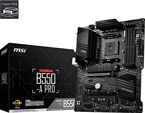 MSI B550-A PRO Scheda madre ATX, AM4, DDR4, M.2, LAN, USB 3.2 Gen2, Front Type-C, HDMI, DisplayPort, AMD RYZEN 3000 3a generazione