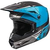 2021 Fly Racing Kinetic Straight Edge Helmet (Blue/Grey/Black, Small)