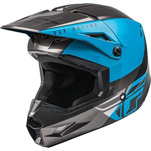 2021 Fly Racing Kinetic Straight Edge Helmet (Blue/Grey/Black, 2X-Large)