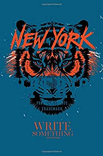 Notebook - Write something: Eye of the tiger tee notebook, Daily Journal, Composition Book Journal, College Ruled Paper, 6...
