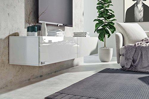Wohnwand – Low- und Sideboard in weiß Bild 4*