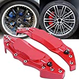 Qiilu 2pcs Caliper Covers Rear Brake Caliper Cover Guard Protector Cover Universal for Wheel Hub 16in-17in Medium