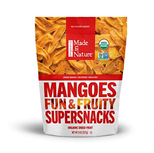 Made in Nature Organic Dried Fruit, Mangoes, 3oz Bag – Non-GMO, Unsulfured Vegan Snack