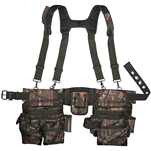 Bucket Boss - Camo Tool Belt with Suspenders, Tool Belts - Original Series (85035)