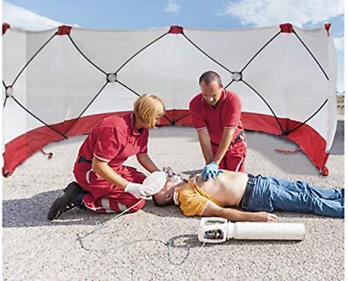 Mobile Sichtschutzwand Feuerwehr 180 x 720 cm Gaffer Unfallsichtschutzwand
