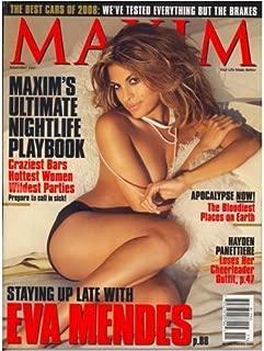 MAXIM Magazine November 2007 Eva Mendes cover