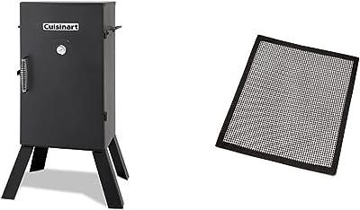 """CUISINART COS-330 Smoker, 30"""" Electric & CNGS-333 Smoker Mats, 3-Pack"""