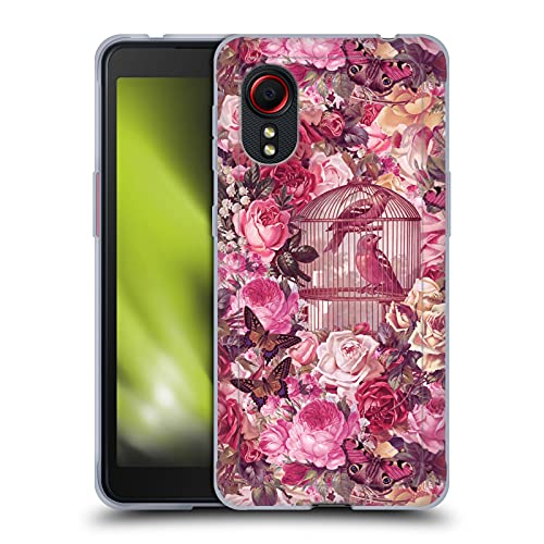 Head Case Designs Officially Licensed LebensArt Vintage Rose Birdcage Patterns 2 Soft Gel Case Compatible With Samsung Galaxy Xcover 5