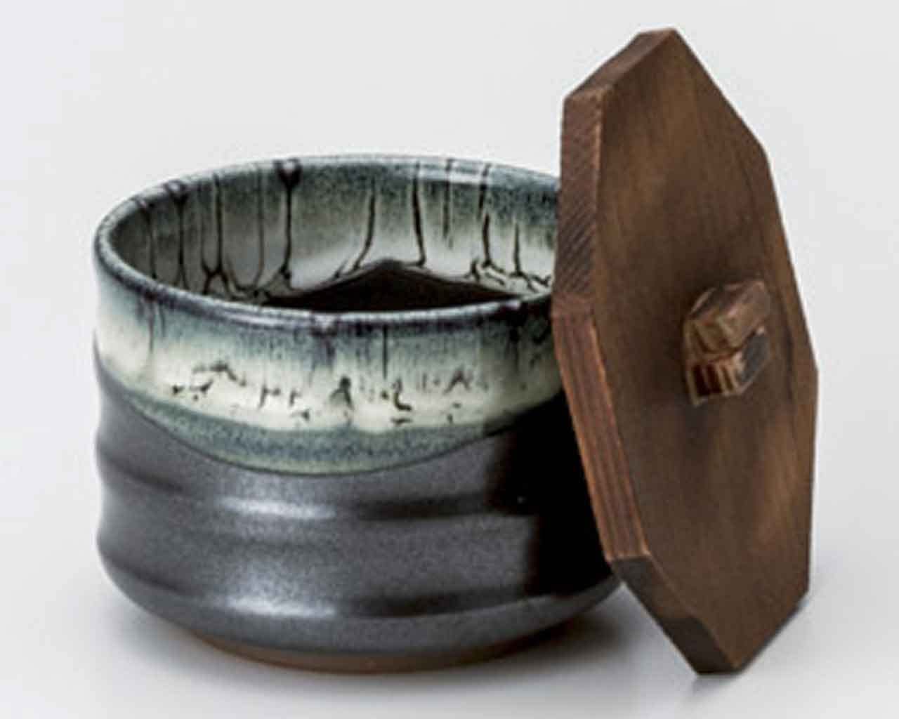 Quality inspection Unofu 4.1inch Set of 2 Rice Industry No. 1 Made bowls Ceramic wooden with lids
