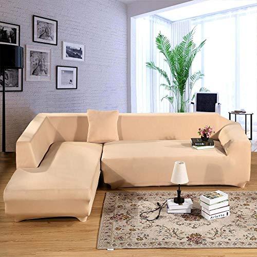 Funda de Sofá Poliéster,Funda de sofá elástica de color sólido, funda de sofá universal antideslizante para primavera, verano, otoño e invierno, funda de cojín para muebles a prueba de polvo-Camel_23