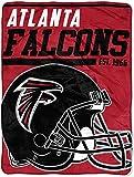 Officially Licensed NFL Atlanta Falcons '40 Yard Dash' Micro Raschel Throw Blanket, 46' x 60', Multi Color