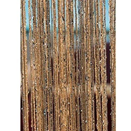 Eastery 1 X 2 M Quaste Vorhang Mit Perlen Zum Aufhängen Einfacher Stil Am Trennwand Tür Fenster Wand Dekor Home Office Beige Free Size (Color : Champagnerfarben, Size : Size)