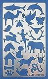Aleks Melnyk #8 Plantilla Stencil de Metal para estarcir/Animales/para Arte Manualidades y decoración/Plantilla para Estarcidos/para Pintar con Aerógrafo/1 piezas/Bricolaje, DIY