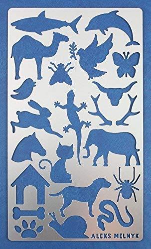 Aleks Melnyk #8 Plantilla Stencil de Metal para estarcir/Animales/para Arte Manualidades y decoración/Plantilla para Estarcidos/para Pintar...