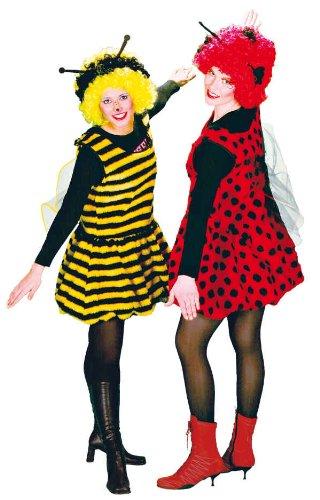 PARTY DISCOUNT ® Damenkostüm Kesse Biene, Einheitsgröße Gr. 36-42